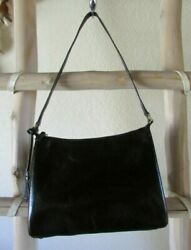 ASSORTED VINTAGE FOSSIL S SHINY BLACK LEATHER HOBO EVENING BAGS $8.00