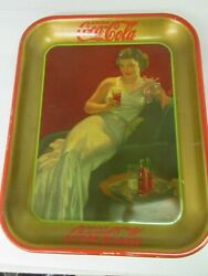 Authentic Coke Coca Cola 1936 Girl Advertising Serving Tray 385-