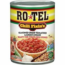 Rotel Chili Fixinand039s Seasoned Diced Tomatoes And Green Chilies 10 Ounce...