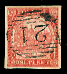 Momen New South Wales Sg 13 Var. Double Impression 1850 Imperf Used Lot 60286