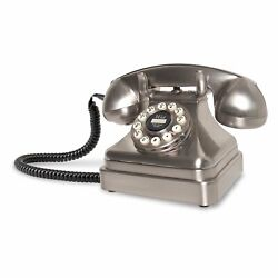 Crosley Cr62-bc Kettle Classic Push Button Technology Desk Phone-brushed Chrome™
