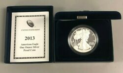 2013 Silver 1oz American Eagle 1 Silver Proof Us Eagle Coin With Box And Cert