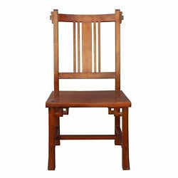 Quality Handmade Brown Color Solid Wood Bar Back Simple Design Chair N165