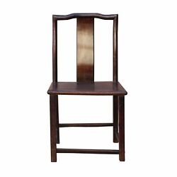 Traditional Chinese Antique Restore Solid Rosewood Dark Brown Chair N168-3