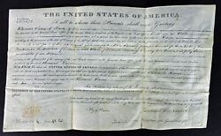 James Monroe Authentic Signed 9.75x16 1822 Land Grant Document Psa/dna Aa08915