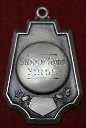 1930's Shooting Medal - Green Shot First - .925 Sterling Silver - Birks - Canada