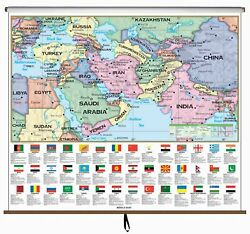 Middle East Essential Classroom Wall Map