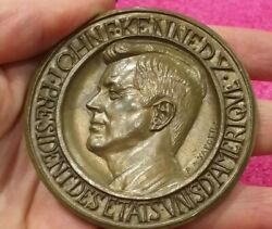 35th Usa President John Fitzgerald Kennedy French Medal By Jaeger.