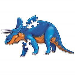 Learning Resources Jumbo Dinosaur Floor Puzzle Triceratops 20 Safe Foam Ages