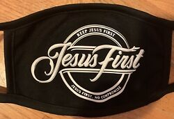 """""""Jesus First"""" Black amp; White Protective Face Mask Washable Reusable"""