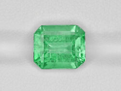 Grs Certified Colombia Emerald 3.69 Cts Natural Lustrous Yellowish Green