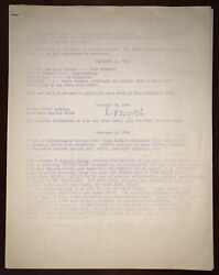 RARE 1969 KENNETH ANGER AN EVENING FOR SCORPIO RISING SCREENING NOTES FILM $600.00