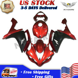 Ftb Injection Fairing Matte Black Abs Kit Fit For Yamaha 2007 2008 Yzf R1 W004