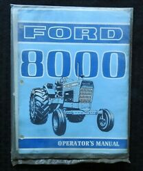 Genuine 1969-1970 Ford 8000 Tractor Owners Operators Manual Sealed Perfect Shape