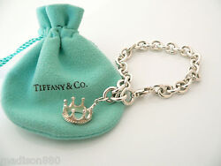 And Co Silver Crown Princess Bracelet Charm Attached Gift Pouch Love