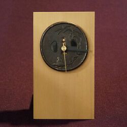 The One And Only Antique Tsuba Clock In The World With Registered Utility Model