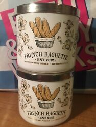TWO NEW Bath amp; Body Works FRENCH BAGUETTE 3 Wick Scented Candles 14.5 oz $80.00