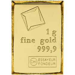 1 gram Gold Bar Valcambi Suisse from Gold CombiBar 999.9 Fine $72.72