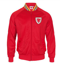 Wales Cymru Faw Official Soccer Gift Mens Retro Track Top Jacket