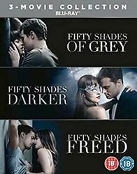 Fifty Shades Of Grey Complete Trilogy 3 Movie Blu-ray Box Set [region Free] New