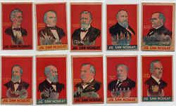 10 Jig Saw Nougat Presidents Cards Jigsaw Exceptional Cond Partial Set 1933 R115