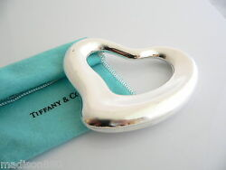 And Co Silver Peretti Heart Rattle Teether Rare Heirloom Baby Gift Pouch