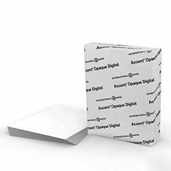 Accent Opaque Thick Cardstock Paper White Paper 120lb Cover 325 Gsm 85 X 11 97