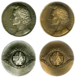 Set Of 2 Czech Medals, Frederic Chopin, Pianist, Composer, Numismatic