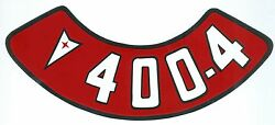 Pontiac 400-4v Air Cleaner Decal- Includes 3.95 S And H For Usa Buyers