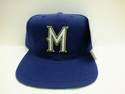 90's Vintage Milwaukee Brewers Mlb Hat Fitted Size 7 1/4 Sports Specialties New