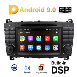 Car Stereo Android 9.0 Radio Dvd 7gps Sat Nav Fit Mercedes Benz C-w203 Clk-w209