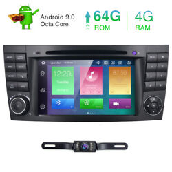 Android 9.0 Car Dvd Radio Stereo Gps For Mercedes Benz E W211 Cls W219 Octa-core