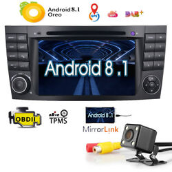 Car Stereo Android 8.1 Radio Dvd 7gps Sat Nav For Mercedes Benz E-w211 Cls-w219