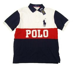 Polo Big And Tall Menand039s White Colorblock Big Pony S/s Polo Shirt