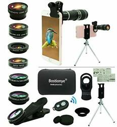 Cell Phone Camera Lens Kit11 In 1 Universal 20x Zoom Telephoto Black