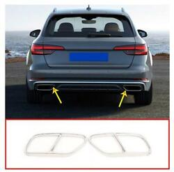For Audi A4 B9 2019 Stainless Steel Silver Exhaust Mufflers Cover Trim