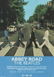 The Beatles 'abbey Road ' 2019 50th. Anniversary Edition. Magazine Ad 11.5 X 8