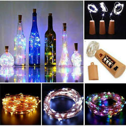 Cork Wine Bottle Wire String Fairy Light Party Led Lamp For Home Party Decor Lot