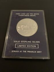 Franklin Mint First Step On The Moon Eyewitness Medal 1969