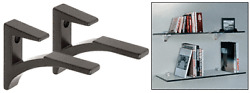 Aluminum Shelf Brackets - Various Finishes - By Dulles Glass