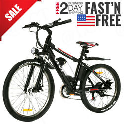26and039and039 Electric Bike Mountain Bicycle Ebike Shimano 21speed 36v/48v Battery