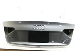 2009-16 Audi A5 S5 A4 Oem Rear Trunk Lid Silver Label Cover Deck Shell Assembly