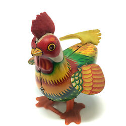 Kanto Rudy Rooster, Wind-up Toy, Tin Litho, Japan