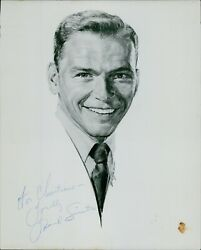 Frank Sinatra Actor Signer Signed 8x10 Card Stock Photo Jsa Authenticated