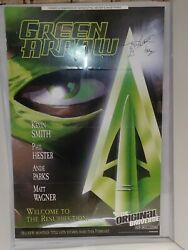 Green Arrow Promo Poster Signed Watermark Sketch Phil Hester Parks 22 X 34 Ga