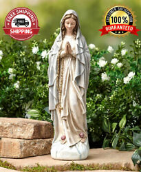 14quot; Virgin Mary Blessed Mother Religious Garden Lawn Outdoor Statue Sculpture