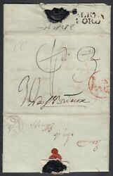 Gb 1778 Anglo-french War French Pow Cover W/ Censor Mark To France