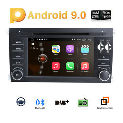 Car Android 9.0 Dvd Gps Player For Porsche Cayenne Radio Navigation 4g/wifi Dab+