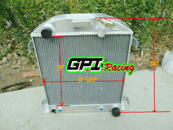 Gpi Racing 3 Row Fit 1932 Ford Chopped Chevy Engine At 32 Aluminum Radiator New