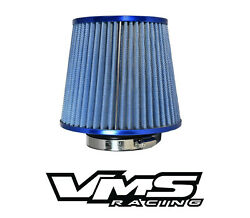 Vms Racing Blue 3 Inch Intake High Flow Air Filter For Dodge Charger Challenger